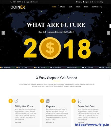 Free bitcoin website template mining templates download exchange. 10+ Best Cryptocurrency & Bitcoin Website Templates 2020 | Frip.in