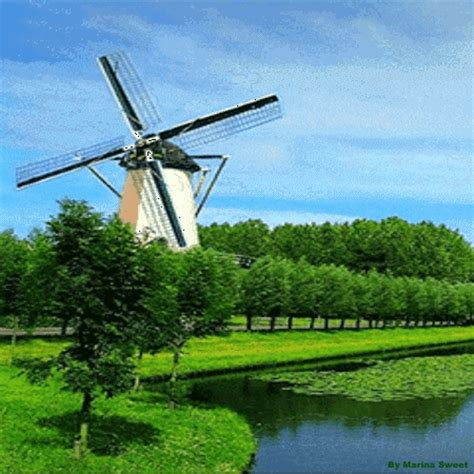 Windmill Wallpaper Animated - animated windmill animations of nature landscapes