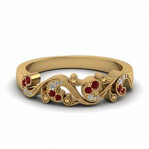 save big on ruby wedding bands for women fascinating diamonds With ruby wedding rings for women