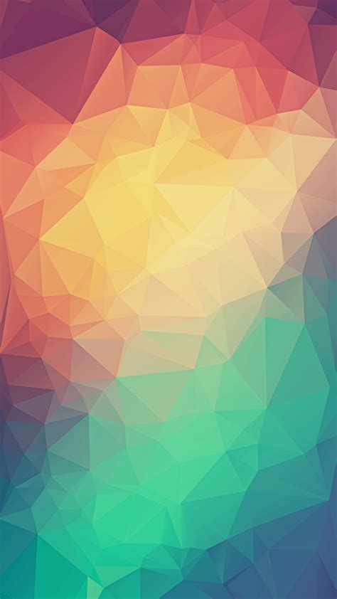colorful  poly triangles iphone  hd wallpaper hd