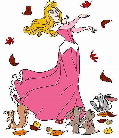 Princess Disney Clipart Clip Fall Aurora Sleeping