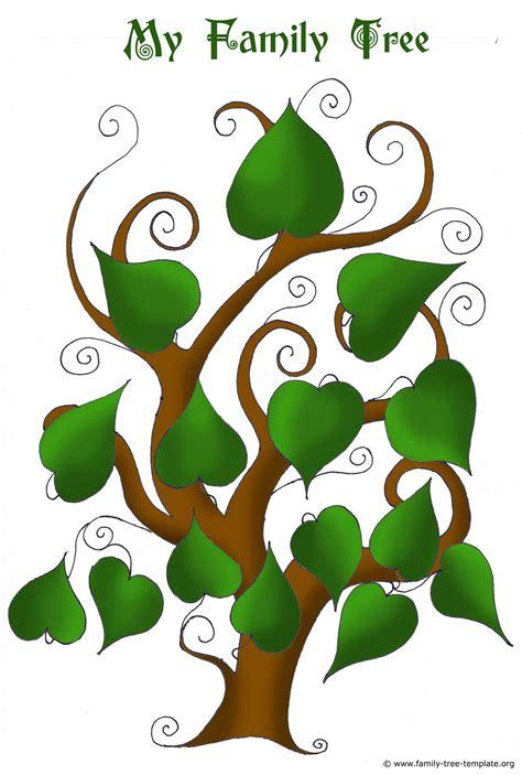 Printable blank family tree charts. Free Family Tree Templates - Using Free Ancestry Information