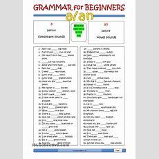 Grammar For Beginners A Or An  Study Inspiration  English Grammar, English Grammar Worksheets