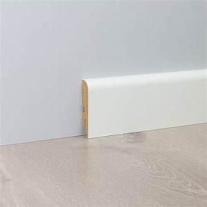 Sockelleisten Holz Weiß : sockelleiste classic wei mdf 2600x18x76mm sockelleisten fu leisten leisten ~ Markanthonyermac.com Haus und Dekorationen