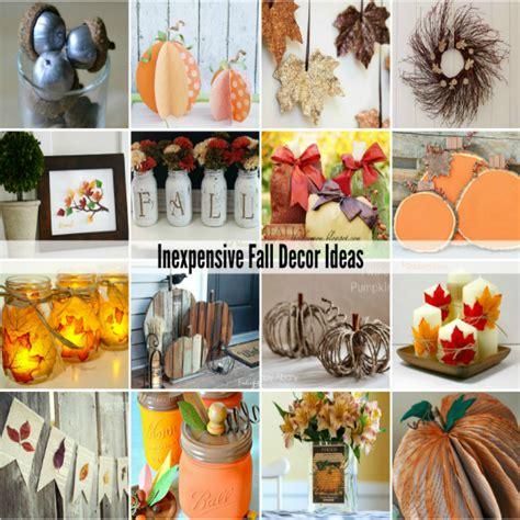 inexpensive fall decorating ideas the idea room