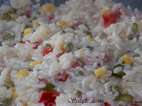 salade de riz blogs de cuisine