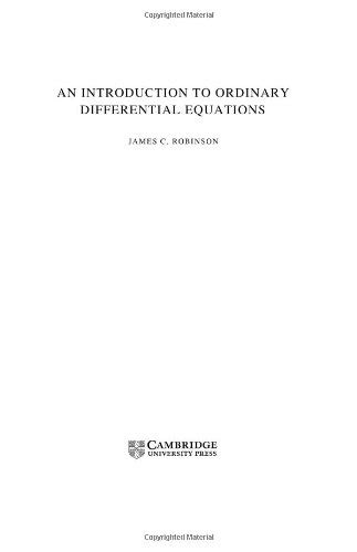 An Introduction to Ordinary Differential Equations by