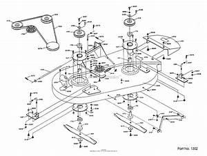 Dixon Ztr 361  1989  Parts Diagram For Mower Deck Assembly