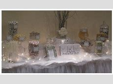 White and Silver Candy Buffet for wedding by The Candy