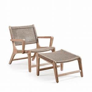 Fauteuil Jardin Bois : fauteuil de jardin avec repose pied en bois basneti by drawer ~ Teatrodelosmanantiales.com Idées de Décoration