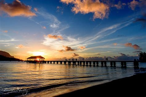 hanalei pier sunset kauai  heather symes