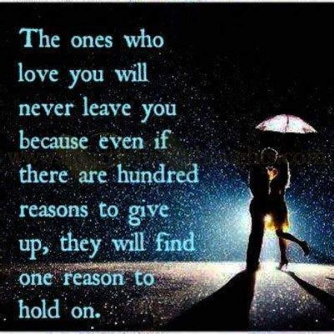 Will Never Leave You Love Quotes