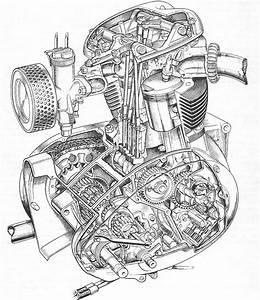 Motorcycle Engine Drawing At Getdrawings Com