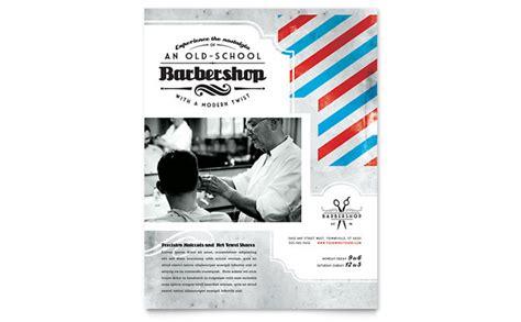 barbershop flyer template design