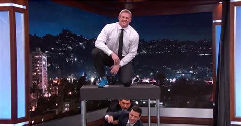 jj watt box jumps  jimmy kimmel popsugar fitness