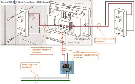 how do you wire two door chimes and two door bells using one 16 volt transformer