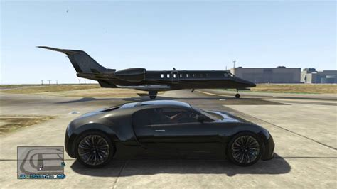 Bugati Vs Plane by Gta V Ultimate Drag Races Luxor Jet Vs Adder