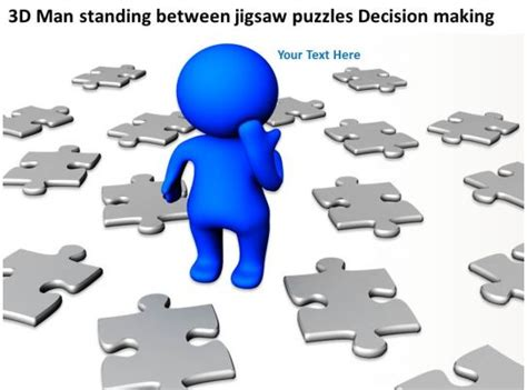 man standing  jigsaw puzzles decision making