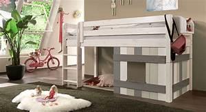 Spielbett Mädchen : kinderhochbett mit leiter und h tte aus holz kids paradise ~ Pilothousefishingboats.com Haus und Dekorationen