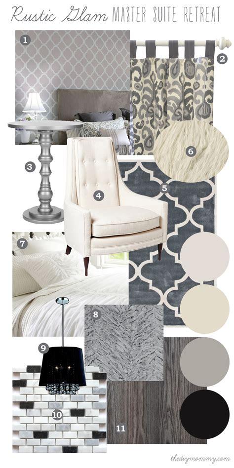 glam master bedroom mood board rustic glam master suite retreat our diy Rustic