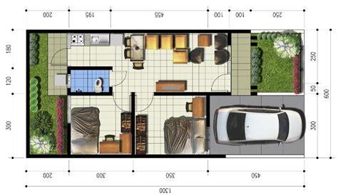 gambar denah rumah ukuran    meter contoh