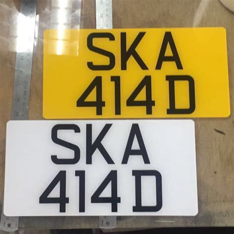 cheapest acrylic car number plate maker custom size lta