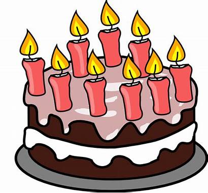 Cake Birthday 9th Clip Clipart Candles Animated