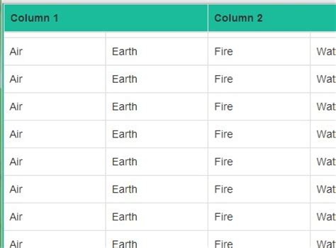 fixed table header and left column jquery plugins lightweight jquery plugin for fixed table headers
