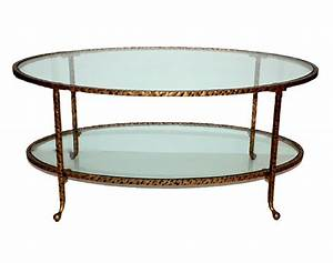 antique gold hammered iron oval coffee table with glass With oval glass and gold coffee table