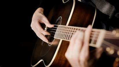 Guitar Acoustic Playing Play Hands Musical Close