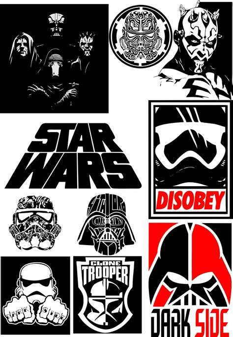 star wars silhouette vector pack  vector cdr