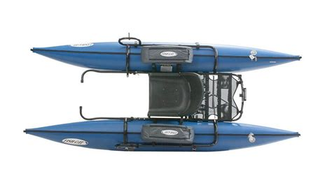 Fishing Pontoon Boat Reviews by Blue Outcast Fish Cat 9 Ir Pontoon Belly Boat Review