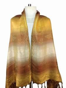 * Gold Scarf (Silk) - Order Online Direct from Thailand  Silk