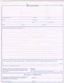 Free Contractor Bid Proposal Forms Template