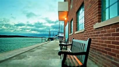Dock Wallpapers Benches Bench Lake Harbor Ships