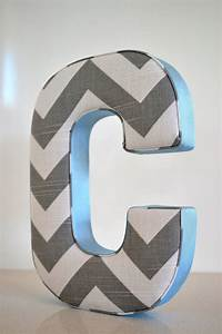 fabric letter personalised initial name wall hanging in With fabric initial letters