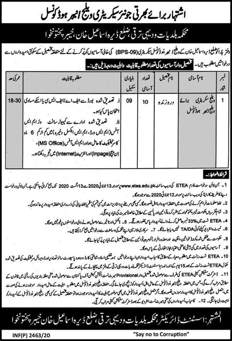 Local Government And Rural Development Department KPK Jobs ...