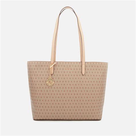 dkny womens bryant large tote bag chino logo