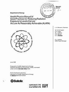Health Physics Manual For Alara