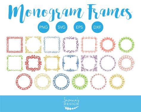 monogram frame collection svg illustrations creative market