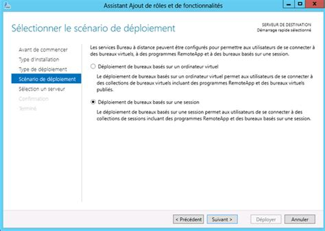 service bureau à distance windows server 2012 installation des services bureau à