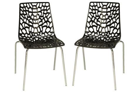 lot chaises pas cher lot de 2 chaises anthracites traviata chaises design pas