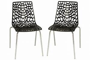 Lot De Chaises Design Pas Cher : lot de 2 chaises anthracites traviata chaises design pas cher ~ Melissatoandfro.com Idées de Décoration
