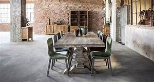 Chaise Moderne Avec Table Ancienne : table monast re grise table de ferme table bois grande table bois table contemporaine bois ~ Teatrodelosmanantiales.com Idées de Décoration