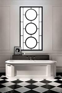 art deco design in black and white bathroom design ideas With art deco black and white bathroom