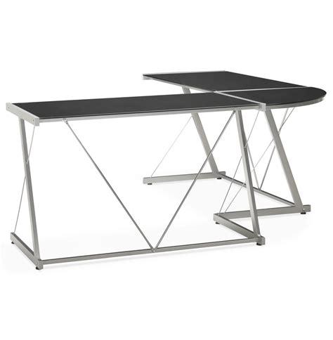 bureau design en verre grand bureau d 39 angle bureau design en verre noir