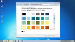 How to Change Desktop Background to a Plain or Solid Color ...