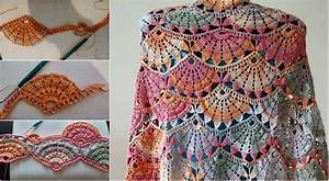 Spring Colorful Crochet Shawl  U2013 Diagrams  U0026 Video Tutorial