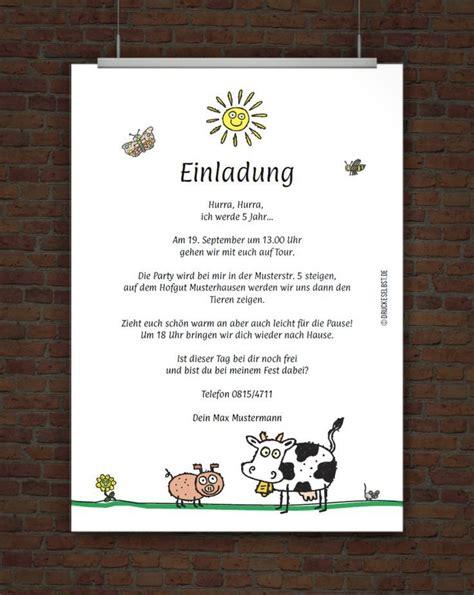 einladung kindergeburtstag text lustig reim geburtstag