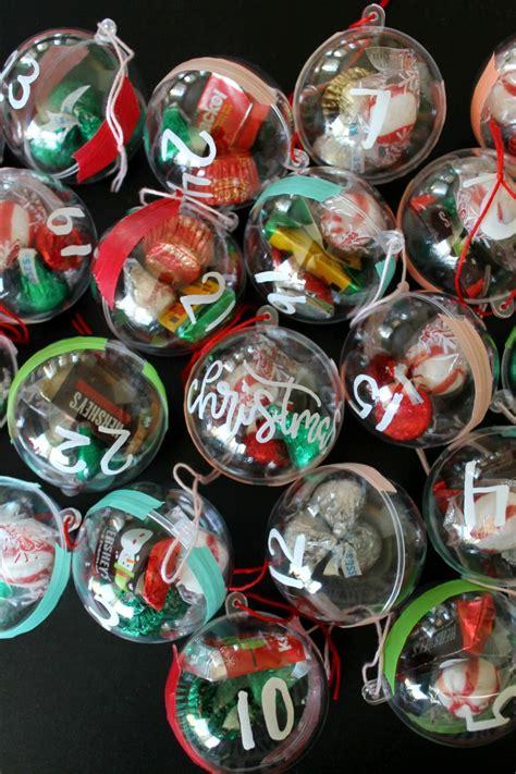 candy ornament diy advent calendar  kids child